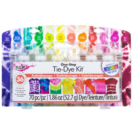 Halloween Diy Crafts Ideas (Craft County Kaleidoscope Tie-Dye Kit - 70 Pieces - Contains 12 Colors, 40 Rubber Bands, 16 Pairs of Protective Gloves, 1 Reusable Surface Cover & 1 Project Idea Guide -)