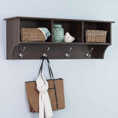 Prepac Everett Espresso Entryway Cubbie Shelf, Brown