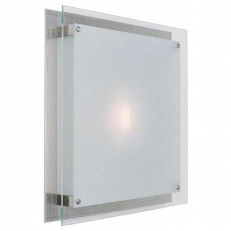 Brushed Steel / Frosted Vision 1 Light Flush Mount Ceiling Fixture ()
