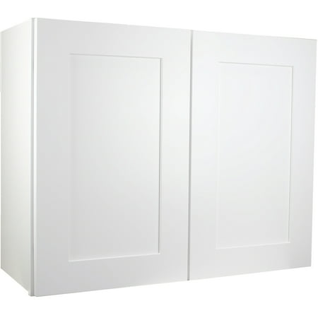 "Cabinet Mania White Shaker - W3624 - Wall Cabinet 36"" Wide x 24"" Tall x 12"" Deep RTA Kitchen Cabinet - Ready to Assemble - 100% All Wood Construction"