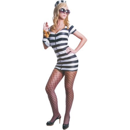 Princess in Prison Black and White Adult Halloween Costume - 2017 Best Halloween Costumes Celebrity