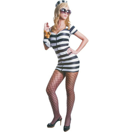 Princess in Prison Black and White Adult Halloween Costume