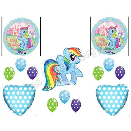 Rainbow Dash Party Supplies (MY LITTLE PONY ICE CREAM RAINBOW DASH Birthday party Balloons Decoration)
