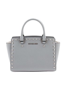 3f07d2629a2a Product Image MICHAEL Michael Kors Selma Stud Medium Top Zip Satchel -  Dusty Blue