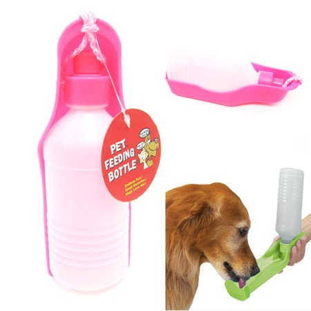 PETS DOG WATER BOTTLE BOWL PORTABLE DRINK DISH CAT BIRD TRAVEL FEEDING PUPPY (Pes Feeding Bottle)
