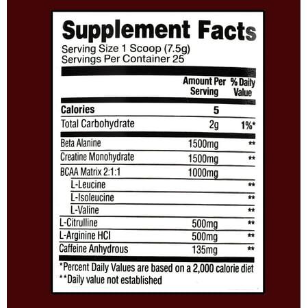 Equate Pre-Workout Powder, Fruit Punch, 6 6 Oz - Walmart com