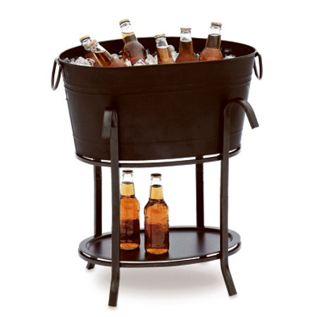 Steel Beverage Tub (SUNJOY INDUSTRIES - Party Beverage Tub, Black Steel)