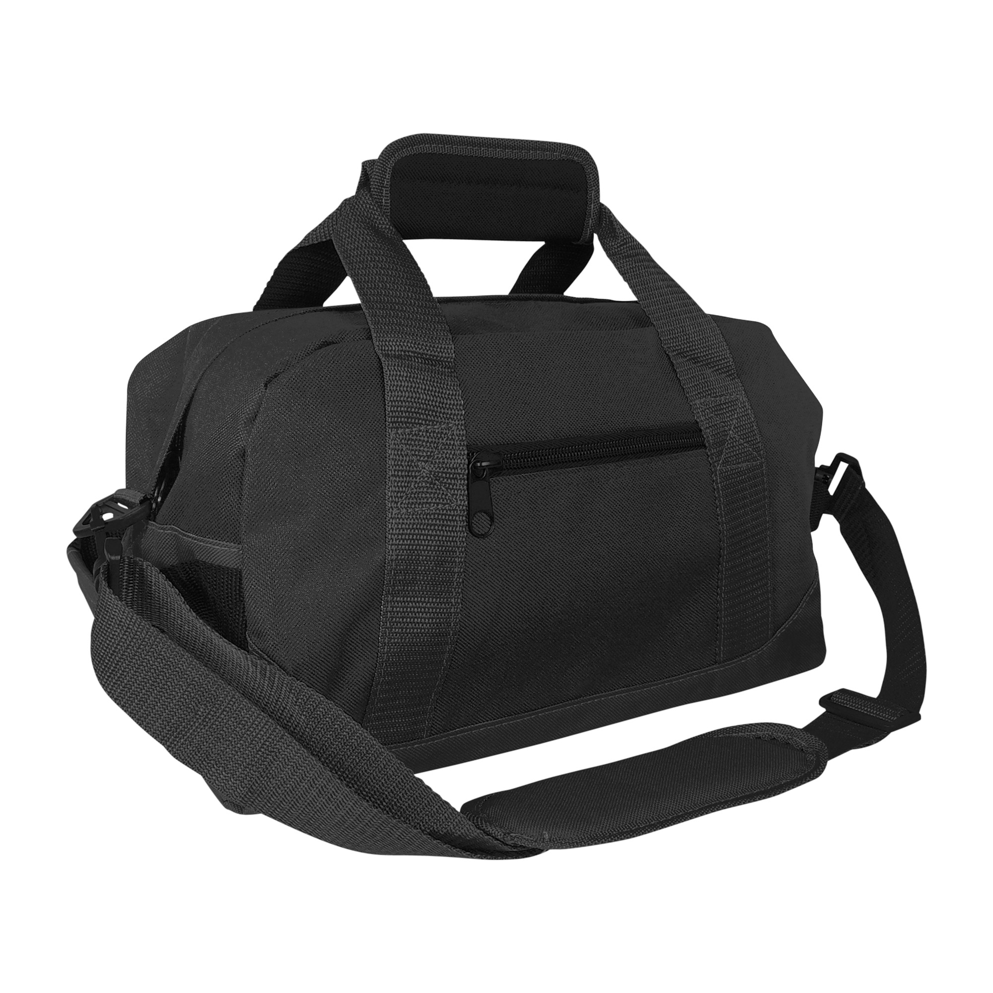 "DALIX 14"" Small Duffel Bag Gym Duffle in Black with Shoulder Strap"