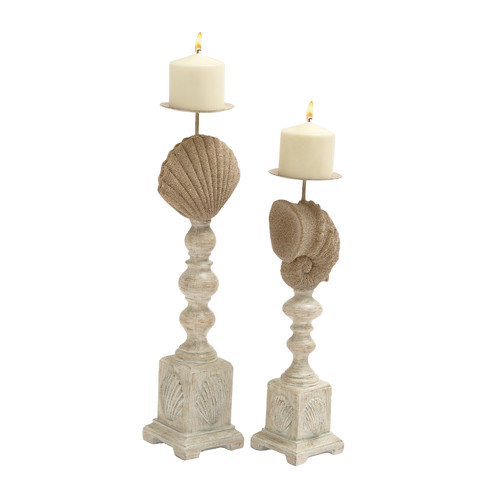 Woodland Imports 2 Piece Metal Candlestick Set by Woodland Imports