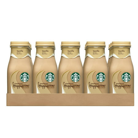 Starbucks Frappuccino Coffee Drink, Vanilla, 9.5 oz Glass Bottles, 15