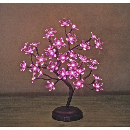 Lightshare 18-inch Crystal Flower LED Bonsai Tree, Pink Light](Flower Led)