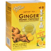 Prince of Peace Tea - Instant - Ginger Honey Crystals - with Lemon - 10 Sachets Herbal Tea