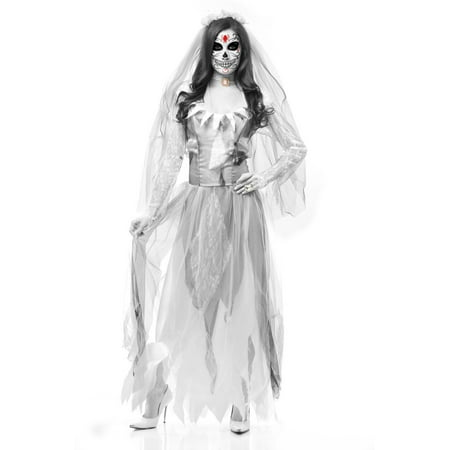 Day Of Dead Halloween Mask (Halloween Costume Women's Dia De Los Muertos Day of the Dead Skull)