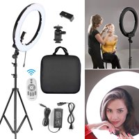 "18"" 288pcs LED Ring Light w/ Stand Dimmable 5500K Lighting Video Continuous Light for Camera, Smartphone, Video, Photography, YouTube, Portrait Shooting"