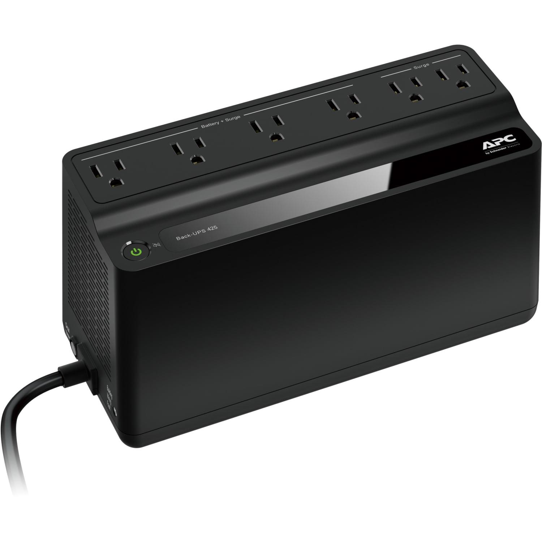 APC 425VA UPS Battery Backup & Surge Protector, APC UPS Back-UPS (BE425M)