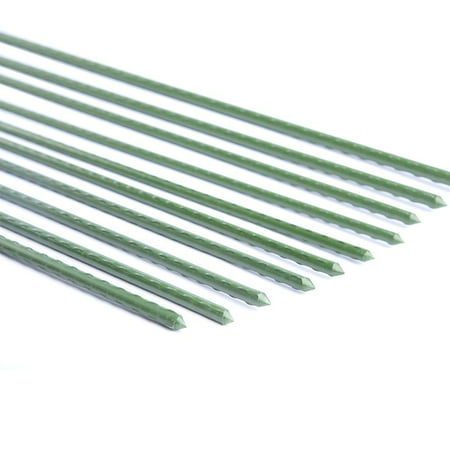 EcoStake, Garden Stake, Plant Stake, Plastic Coated Steel Tube Stakes, 11mm Dia, 4-Feet, 20 Pack ()