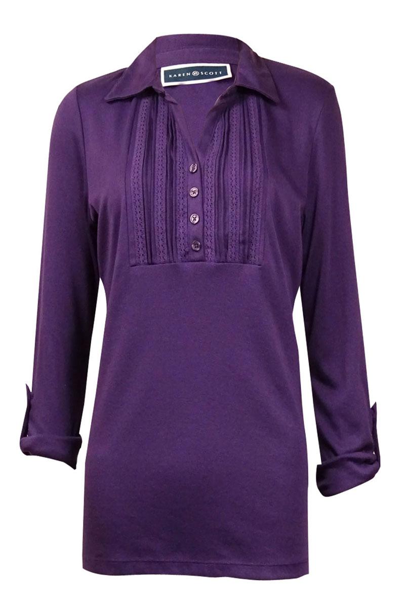 Karen Scott Womens Blouses Shirts Walmart Com