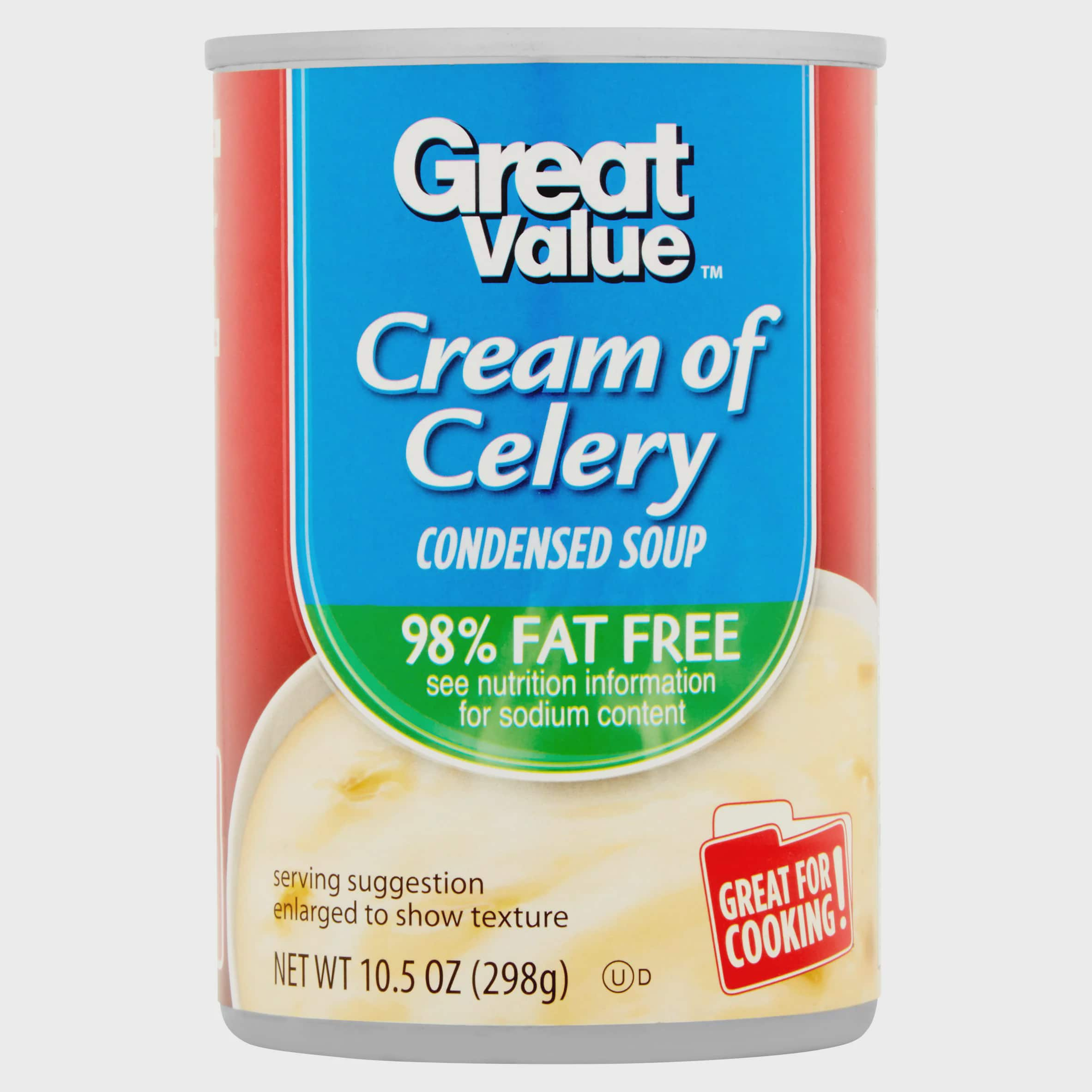 Great Value 98% Fat Free Cream Of Celery Condensed Soup, 10.5 oz