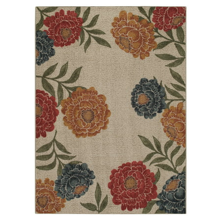 Better Homes & Gardens Floral Berber Print Rug, Multiple Sizes and Colors