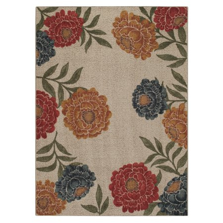 Better Homes Amp Gardens Floral Berber Loop Print Area Rug And Runner Walmart Com