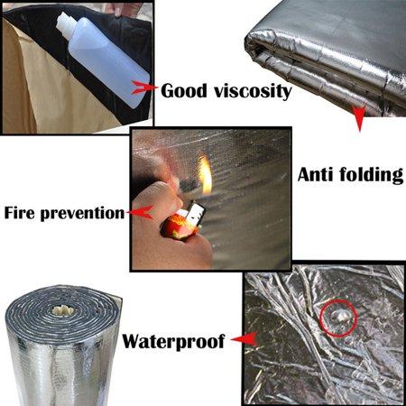 Automotive Sound Deadener Heat Insulation Deadening Material Proof Mat, 55'' x 39'' - image 2 of 6