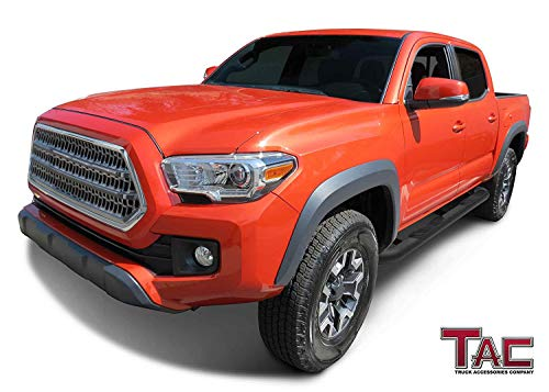 2 Pieces Running Boards TAC Side Steps Fit 2005-2020 Toyota Tacoma Double Cab Truck Pickup 3 Black Side Bars Nerf Bars Step Rails Running Boards Rock Panel Off Road Exterior Accessories