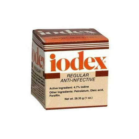 2 Pack   Iodex Regular Anti Infective Ointment Jar 1Oz Each