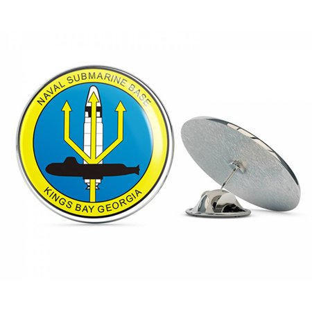 "US Navy NAVAL SUBMARINE BASE KINGS BAY, GEORGIA MILITARY  Military Veteran USA Pride Served Gift Metal 0.75"" Lapel Hat Pin Tie Tack Pinback"