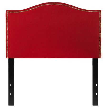 BSD National Supplies Regal Twin Size Red Fabric Headboard with Nailhead Trim