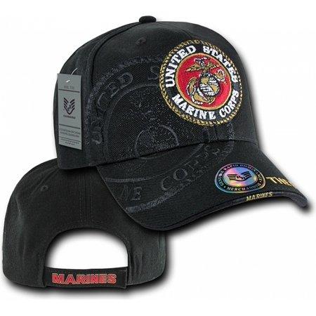 RapDom United States Marine Corps Shadow Mens Cap [Black - (Marine Fatigue Cap)
