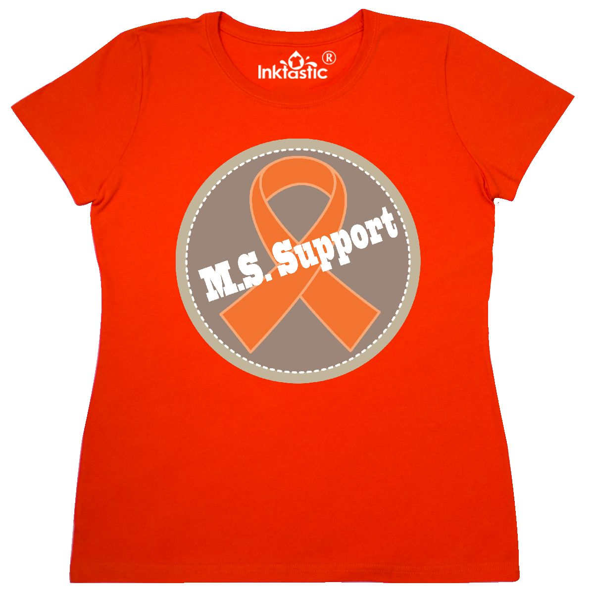 Inktastic Multiple Sclerosis Support Logo Women's T-Shirt M.s. Ms Walk Ribbon