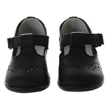 Baby Toddler Girls Black Eyelet Design Mary Jane Trendy Shoes Size 1-7