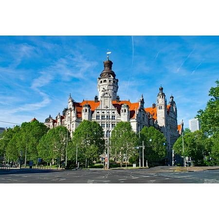 Laminated Poster Saxony Architecture New Town Hall Germany Leipzig Poster Print 24 X 36 Walmart Com