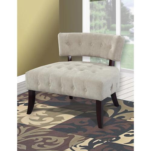 Powell Furniture Lady Slipper Tufted Fabric Slipper Chair
