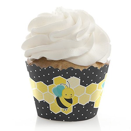 Honey Bee - Baby Shower or Birthday Party Party Cupcake Wrappers - Set of 12 (Beer Party Decorations)