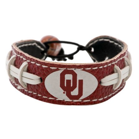 NCAA Oklahoma Sooners Team Color Football Bracelet (Football Bracelet)