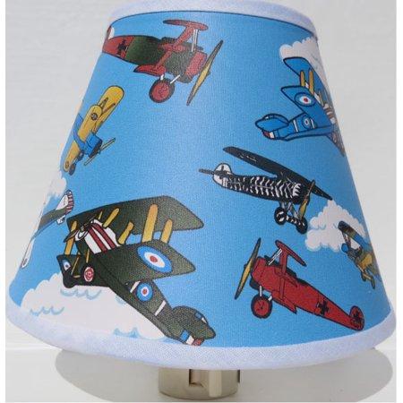 Vintage Airplanes Night Light / Children's Airplane Room Decor Candle Night Light