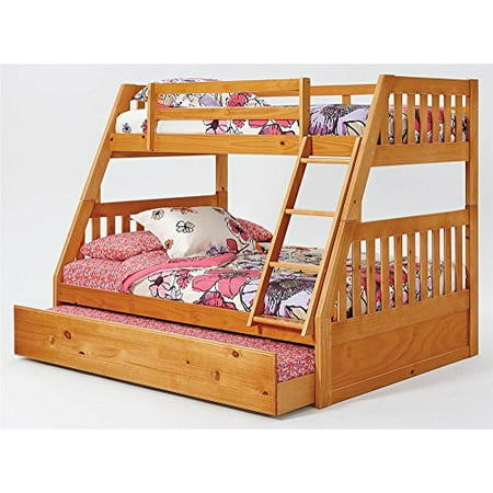 Chelsea Home Furniture 36tf700 T Twin Over Full Mission Bunk Bed With Trundle Ladder