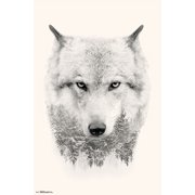 Trends International Wolf Trees Wall Poster 22.375