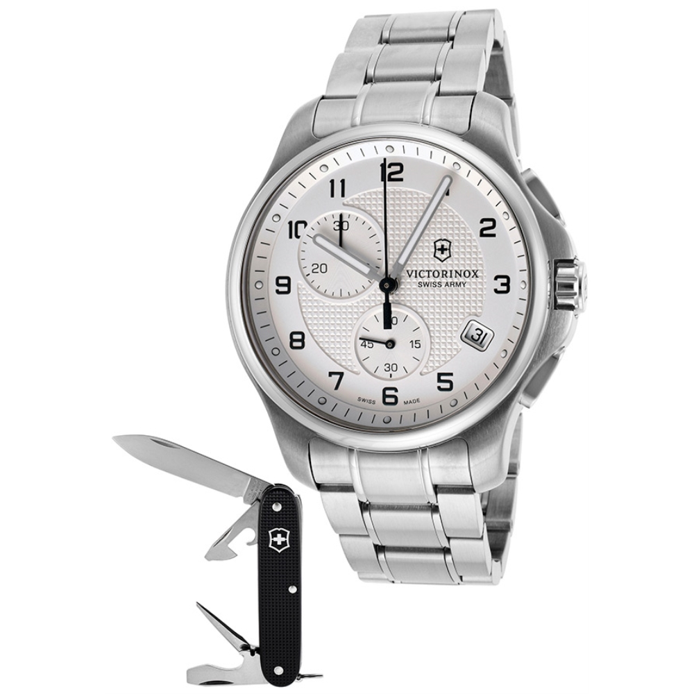 Victorinox Swiss Army Officers Chronograph Date Watch Gif...