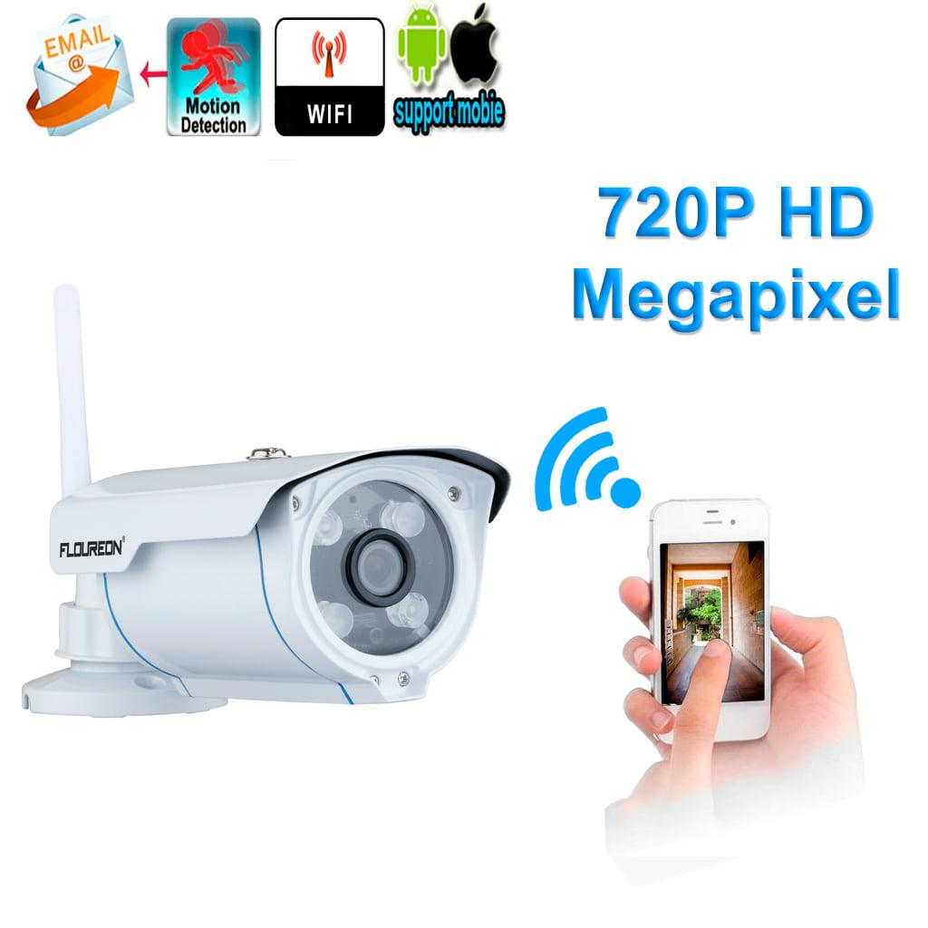 Floureon Security Home Camera, 720P H.264 Wifi Megapixel Wireless CCTV Security IP Camera TF Slot