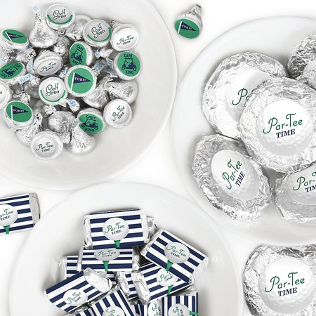 Par-Tee Time - Golf - Mini Candy Bar Wrappers, Round Candy Stickers and Circle Stickers - Birthday or Retirement Party Candy Favor Sticker Kit - 304 Pieces ](Retirement Center Pieces)