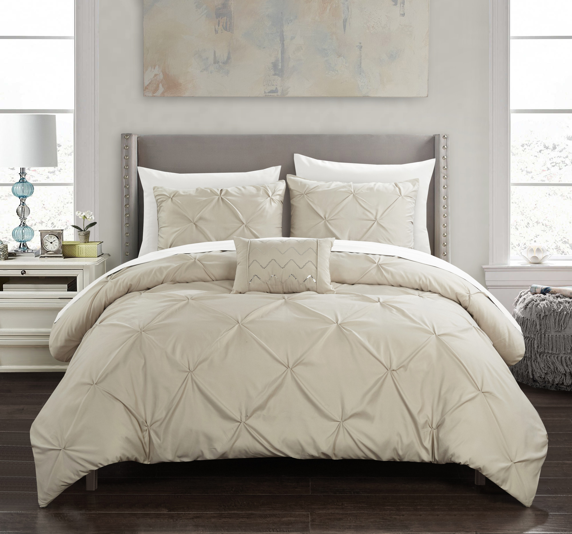 Chic Home Whitley 4 Piece Duvet Cover Set Pinch Pleat