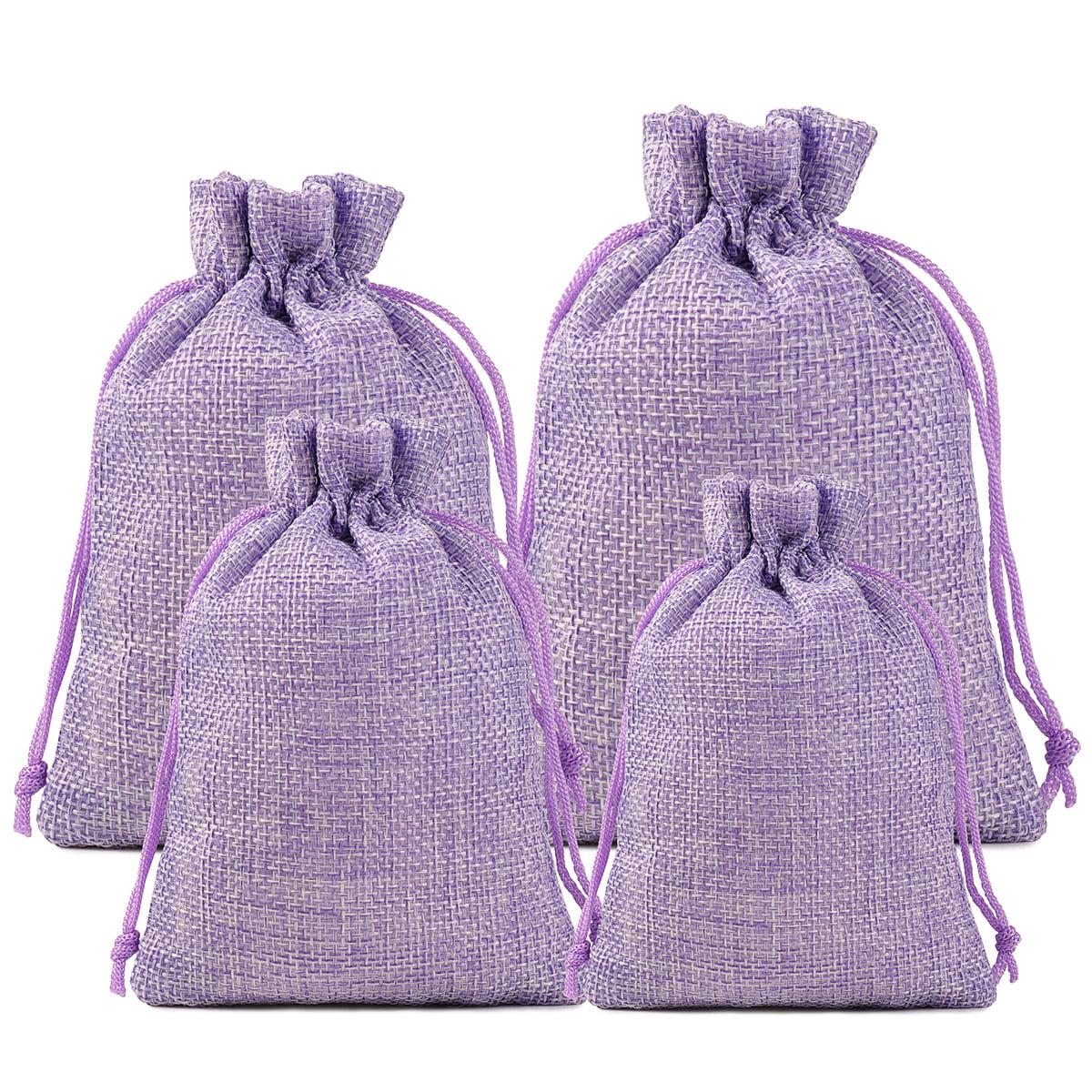 "Drawstring Jewelry Pouch 5/""x7/"" 25 50 100 Hessian Burlap Jute Linen Gift Bags"