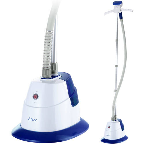 SALAV GS06-DJ Performance Garment Steamer with 360-Degree Swivel Hanger, Dual Insulated Hose, 1500W, Blue