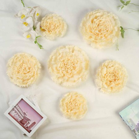 Efavormart 6 Multi Size Pack Carnation 3d Wall Flowers Giant Paper Flowers 7 9 11