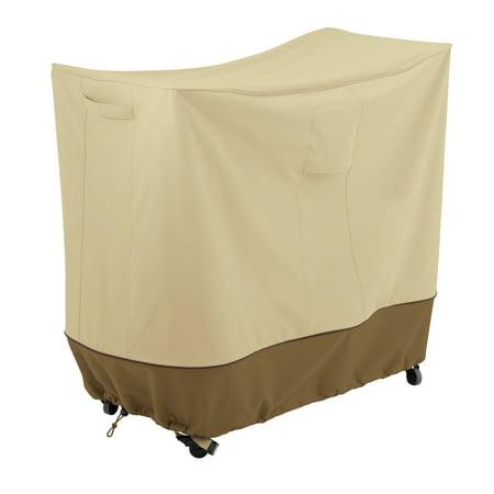 "Classic Accessories Veranda™ Double Handle Bar Cart Cover - Water Resistant Outdoor Furniture Cover, 40""L x 18""D x 36""H, Pebble"