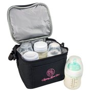 Breast Milk Baby Bottle Cooler Bag For Insulated Breastmilk Storage w  Air Tight Design to Lock in the Cold & Preserve... by Mommy Knows Best
