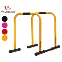 Wacces Heavy Duty Functional Fitness Station Stabilizer Dip Stands Bar - Red