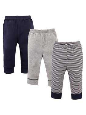 Luvable Friends Toddler Boys Tapered Ankle Pants, 3-pack (18M-5T)